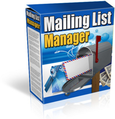 Product picture Mailing List Manager -manage your mailing list & newsletters