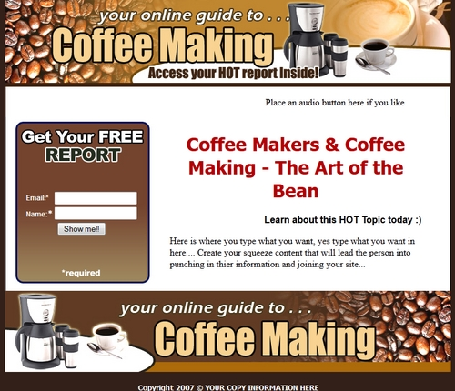 Product picture Coffee Makers and Coffee Making  Squeeze Bage