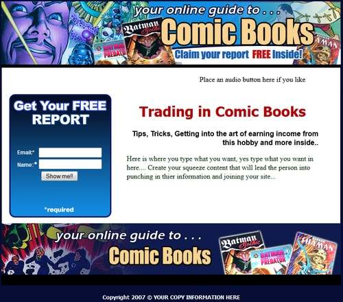 Product picture Comic Books squeeze page templates